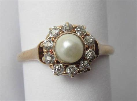 best 25 vintage pearl rings ideas on pearl
