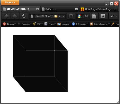 tutorial membuat css 3 membuat kubus menggunakan css3 tutorial css