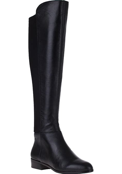 boots tali black michael michael kors bromley flat boot black leather