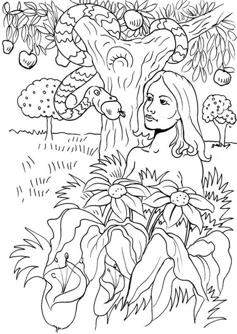 coloring pages of the garden of eden garden of eden coloring pages printable coloring pages