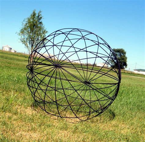 garden metal metal garden yard balls spheres