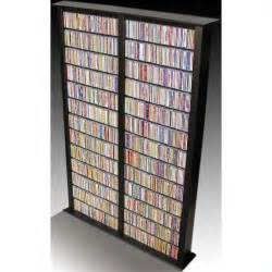 Dvd Rack Wall Double 76 Inch Tall Cd Dvd Wall Rack Media Storage 2412