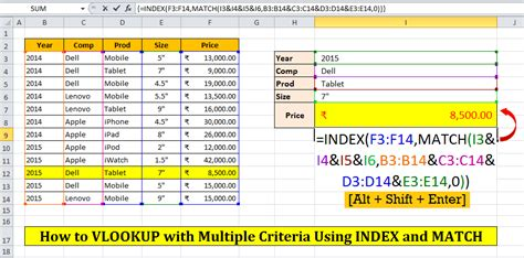 learn vlookup quickly how to vlookup with multiple criteria in multiple column