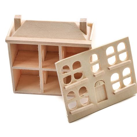 unfinished wooden doll house auchentoshan three wood miniature crafts