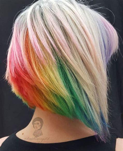 shirt haurcuts with diwd tips best 25 short rainbow hair ideas on pinterest rainbow