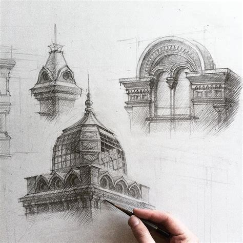 Sketches Architecture by Architectural Sketches By Adelina Gareeva