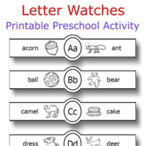 printable paper watches letter watches alphabet actvity crafting paper