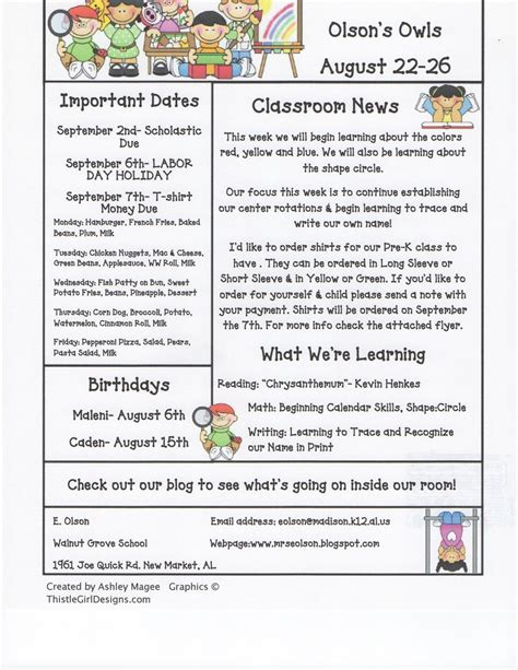 kindergarten classroom newsletter template december school newsletter ideas click on the image to