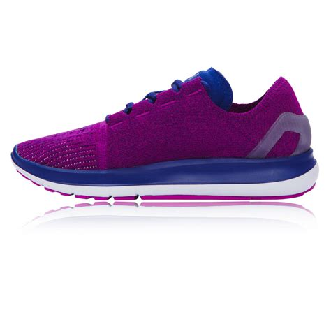 womens cushioned running shoes armour speedform slingride womens purple cushioned