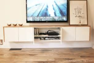 ikea tv cabinet hack petite modern life diy floating sideboard tutorial