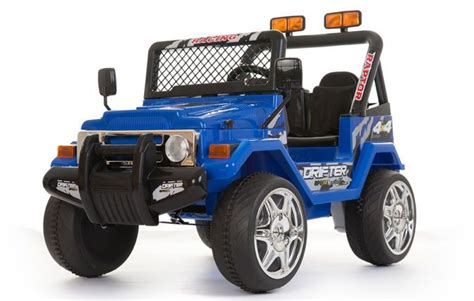 toy jeep for kids blue 12v 2 seats 4x4 jeep battery kids ride on cars
