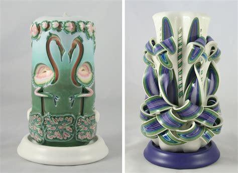 candele artigianali candele decorative artigianali in cera multistrato incisa