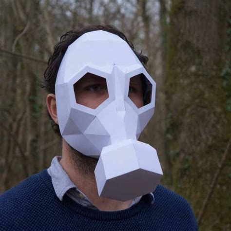 Papercraft Gas Mask - howtobeadad 15 printable masks that scream creativity
