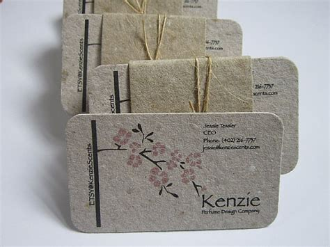 Handmade Paper Business Cards - rounded corner business cards handmade paper business cards
