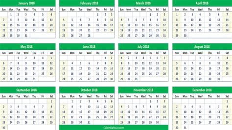 excel printable yearly calendar 2018 yearly calendar printable templates of word excel