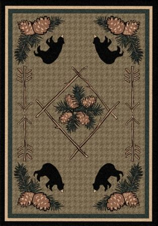 western rugs and trading co pine cone bears