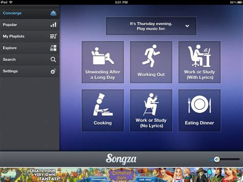 best themes apps best free ipad app of the week songza ipad insight