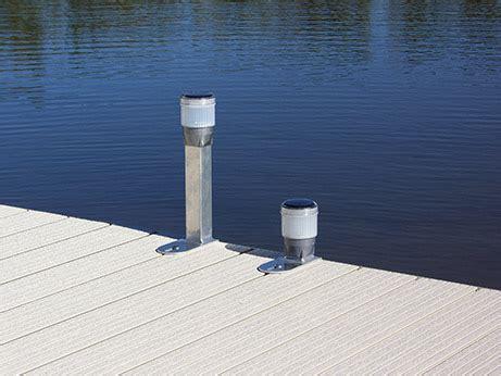solar pier lights solar dock lights at ease dock lift detroit lakes mn