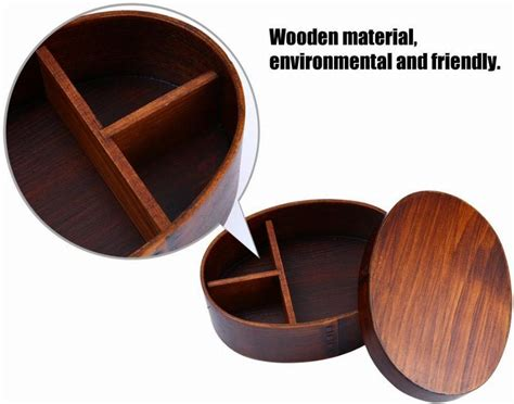 Box Aki Japs Oval japanese style wooden lunchbox creative oval bento box