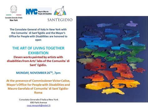 consolato generale d italia a new york la mostra quot living together quot degli artisti con disabilit 224