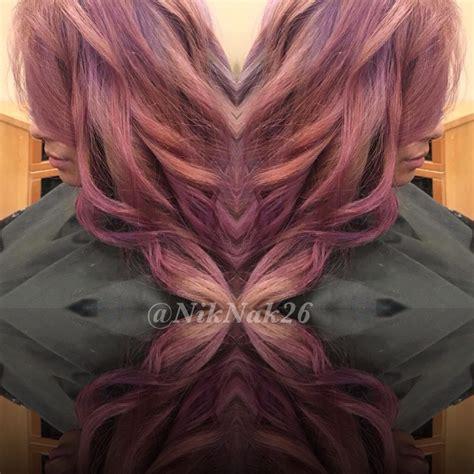 pravana violet hair color pravana vivids colormelt violet gold dusty