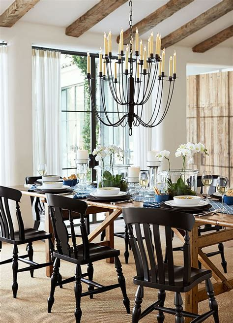 Dinner Party Ready Dining Rooms Pinterest Black Black Dining Room Chandelier