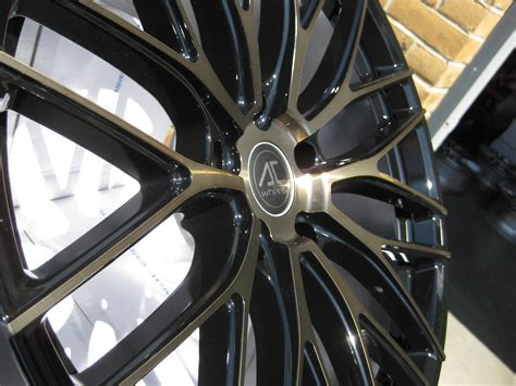 Ac 6275 Black new 19 quot ac syclone alloys in black with bronze polished
