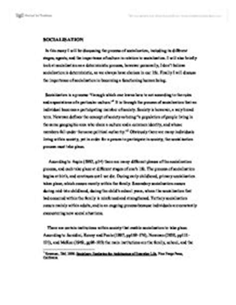 Agents Of Socialization Essay by Socialisation In This Essay I Will Be Discussing The Process Of Socialisation Including Its