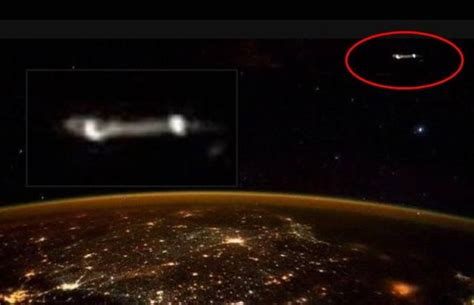 disco volante ufo astronaut tweets photo of ufo from iss ufo
