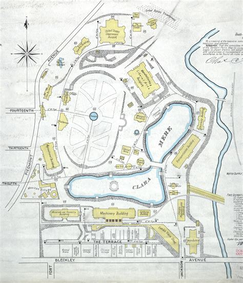 map the 1895 cotton states exposition in piedmont park
