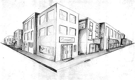 draw building two point perspective pia s art blog