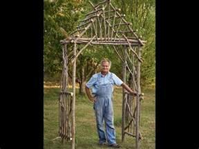 Bamboo Trellis Ideas How To Make A Diy Rustic Pergola Youtube