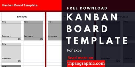Kanban Board Template For Excel Free Download Tipsographic Kanban Templates Free