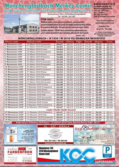 Palestine Kalendar 2018 Ramadan Kalender 2018 F 252 R M 246 Nchengladbach Diyanet