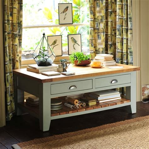 C319 Grey caldecote grey coffee table with drawers c319