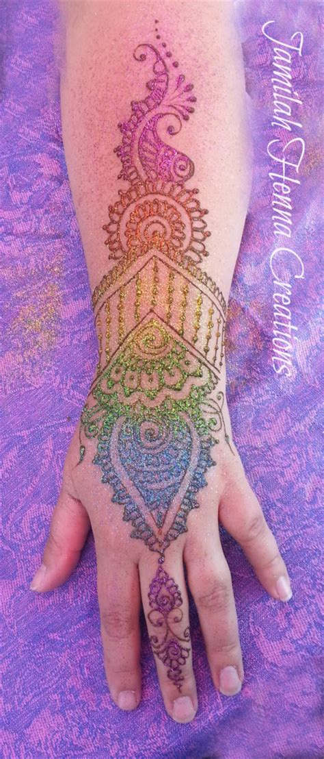 glitter  embellish  henna artistic