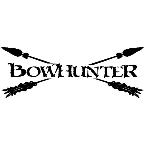 bow decal rear window bow hunting logo decals outdoor decals