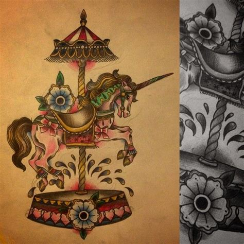 carousel horse tattoo designs nickkingtattoo on instagram