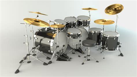 Kaos 3d Umakuka Drum Set 3d drums render 2 by filipes2c on deviantart