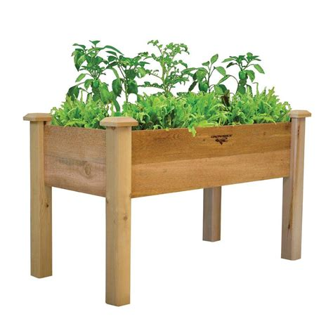 raised garden beds garden center  home depot