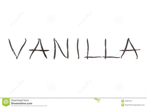 5 Letter Words Vanilla word vanilla in letters stock image image 15084101