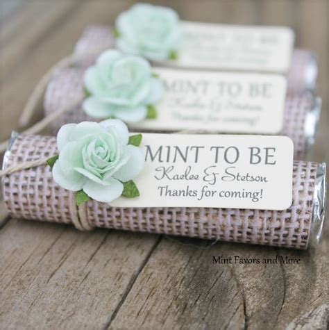 wedding favors mint to be personalized wedding favors burlap wedding favors mint
