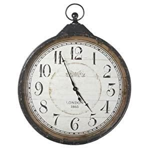 wall clock online amazon 40 75 quot extra large distressed antique style black pocket
