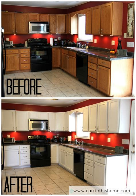 Spray Painting Kitchen Cabinets White with How To Paint Cabinets
