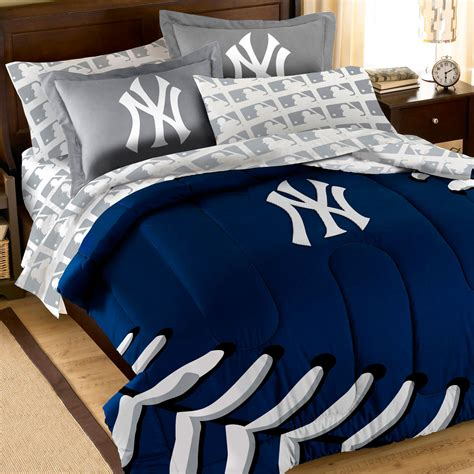 baseball bedding full 7pc new york yankees full bedding set mlb ny baseball