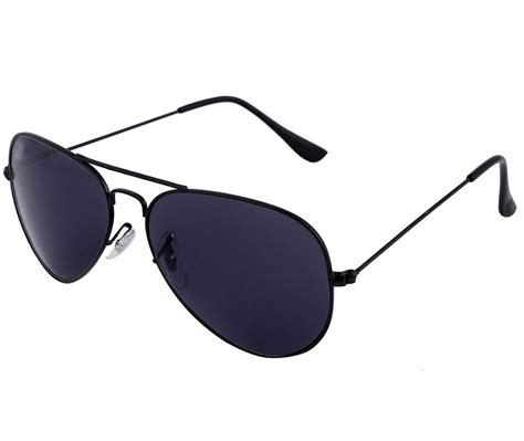 Aviator Sunglass by Shvas Aviator Unisex Sunglasses Black Av001