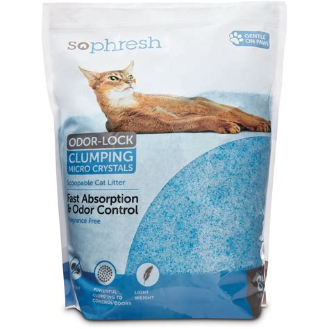 cat litter so phresh scoopable odor lock clumping micro cat litter in blue silica 8 lb