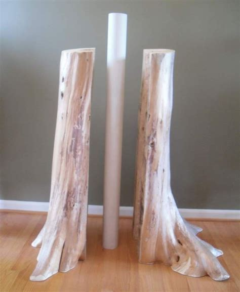 authentic cedar log basement pole covers support post wrap
