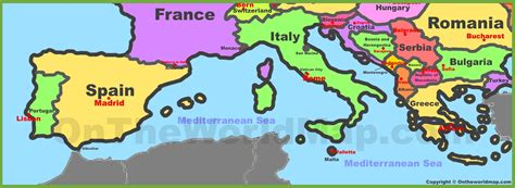 south of europe map map of southern europe