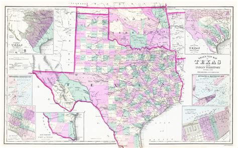 texas oklahoma map map of texas and oklahoma counties pictures to pin on pinsdaddy